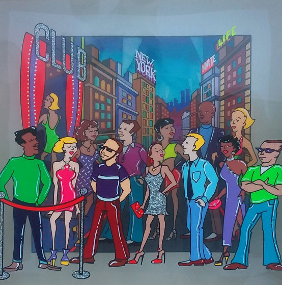 New York Night Life 2002 6x6 by Susannah MacDonald