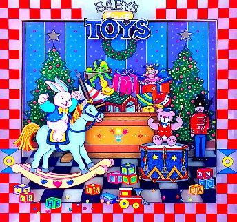 Baby's First Toys 2001  3-D 12x12 Original Painting - Susannah MacDonald