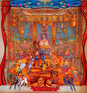 Greatest Show 1998 26x25 3-D 26x25 Original Painting - Susannah MacDonald