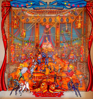 Greatest Show 1998 26x25 3-D 26x25 Original Painting by Susannah MacDonald