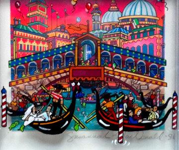 Venice 1996 4x4 3-D Original Painting - Susannah MacDonald