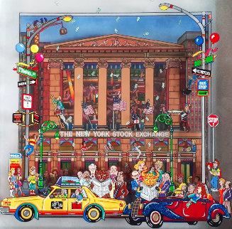 New York Stock Exchange 3-D 1997 25x25 Original Painting by Susannah MacDonald
