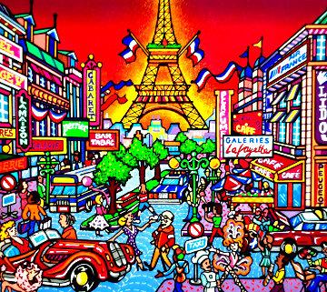 Paris, London and the Swiss Alps 1996 - Set of 3 Original Painting - Susannah MacDonald
