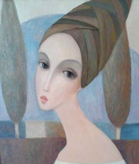 Cypress 2001 38x34 Original Painting by Sergey Smirnov