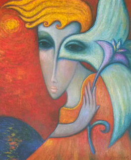 White Angel II 2006 45x39 Original Painting by Sergey Smirnov
