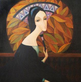 Golden Evening 42x42 Original Painting - Sergey Smirnov