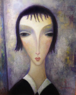 Silver Dawn 2006 37x29 Original Painting by Sergey Smirnov
