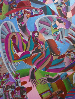 Flying Over the City 2005 33x43 Works on Paper (not prints) by Igor Smirnov
