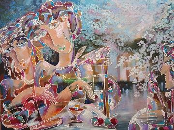Cherry Blossom 2016 38x42 Original Painting - Igor Smirnov