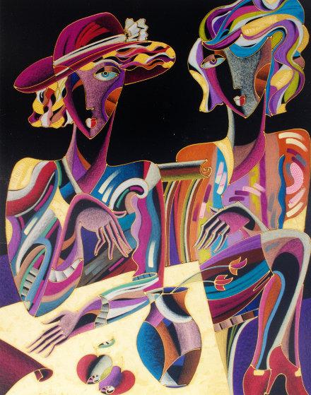 Two Ladies 2003 38x47 Works on Paper (not prints) by Igor Smirnov