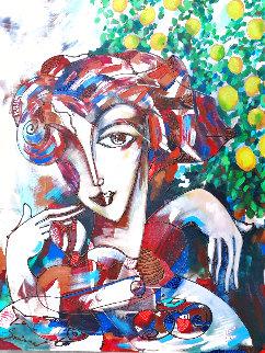 Lime Tree 2019 28x22 Original Painting - Igor Smirnov