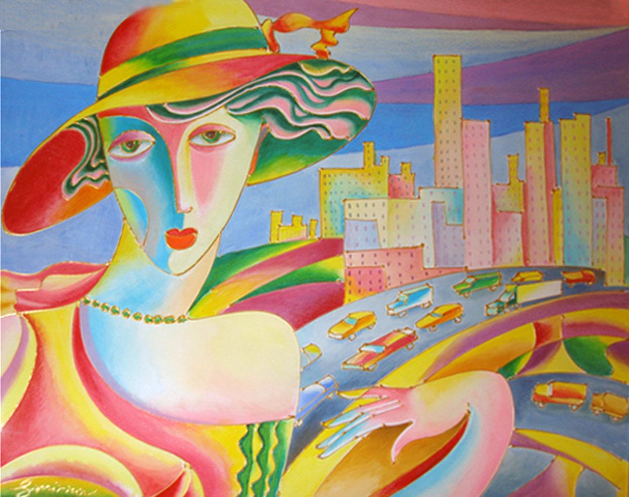 My City Watercolor 22x30 Watercolor by Igor Smirnov