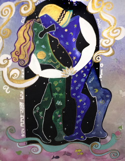 Marriage of Heaven And Earth Watercolor 1995 31x27 Watercolor by Andrea Smith