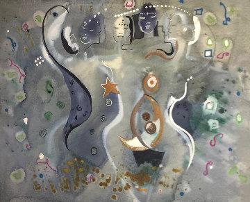 Balance Watercolor 38x46 Watercolor - Andrea Smith