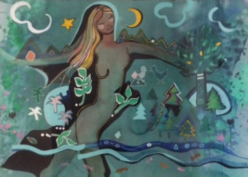 Joy in Life... 1986 45x57 Original Painting by Andrea Smith