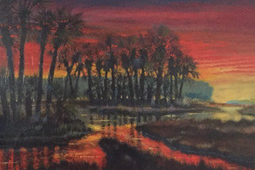 Low Country Drama 2004 36x48 Original Painting - Ford Smith