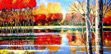 Panoramic Repose 2006 30x54 Original Painting - Ford Smith
