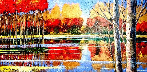 Panoramic Repose 2006 30x54 Original Painting by Ford Smith