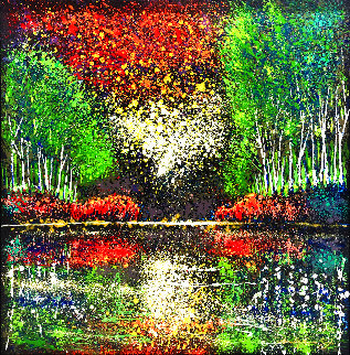 Drops of Nature 48x48 Huge Original Painting - Ford Smith