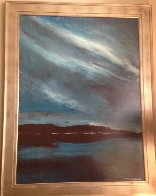 Night Shimmers 48x36 Super Huge Original Painting by Ford Smith - 1
