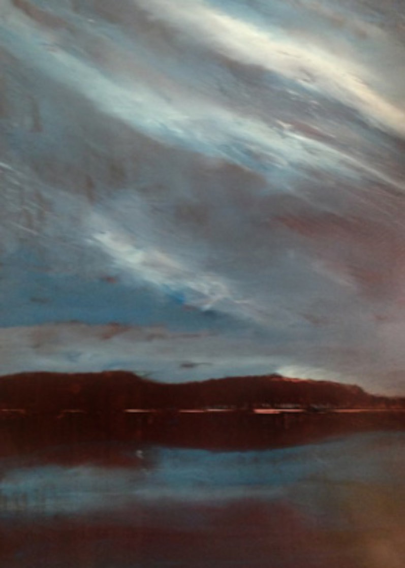 Night Shimmers 48x36 Super Huge Original Painting by Ford Smith