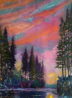 Night Shimmers 36x24 Original Painting - Ford Smith