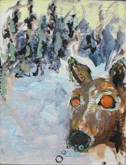 Deer 18x14 Original Painting - Greg Smith