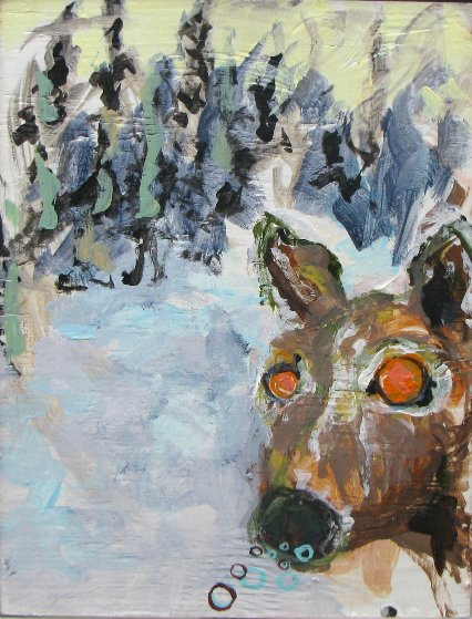 Deer 18x14 Original Painting by Greg Smith