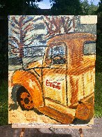 Rusty Coke Truck 2017 30x24 Original Painting by L.J. Smith - 1