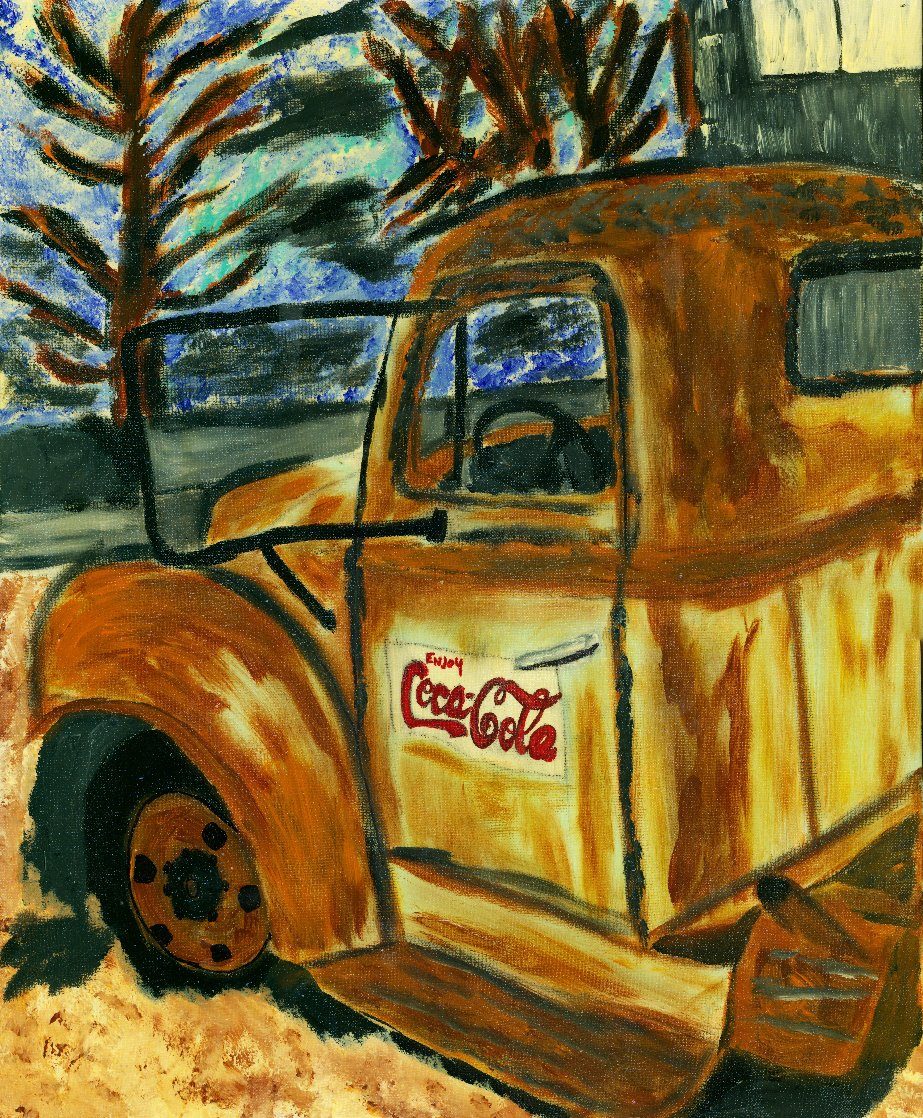Rusty Coke Truck 2017 30x24 Original Painting by L.J. Smith