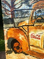 Rusty Coke Truck 2017 30x24 Original Painting by L.J. Smith - 3