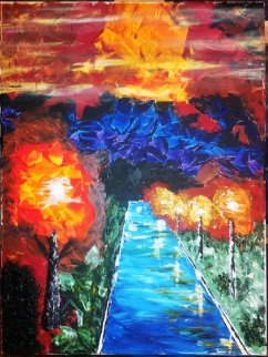 Path Light 2013 24x18 Original Painting - L.J. Smith
