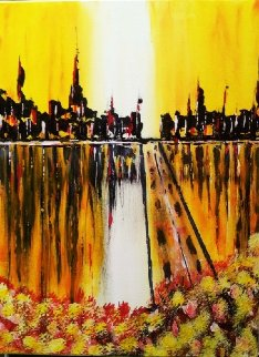 Madrid 2013 18x24 Original Painting by L.J. Smith