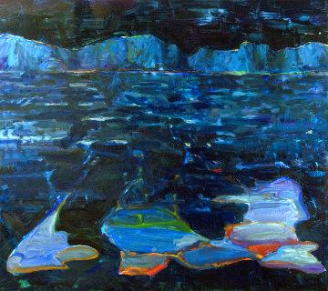 Mountain Lake #16 2016 54x48 Original Painting - Mel Smothers