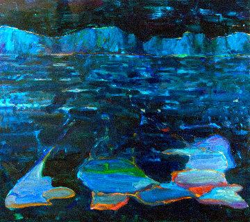 Mountain Lake #16 2016 54x48 Huge Original Painting - Mel Smothers
