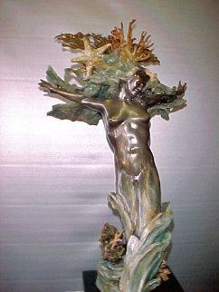 Devonian Seafan Bronze Sculpture 24 in Sculpture by M. L. Snowden