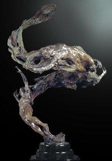 Spiral Helix Y Bronze Sculpture 2000 50 in Sculpture by M. L. Snowden