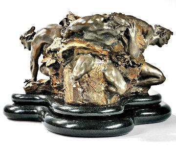 Cataclasis Bronze Sculpture 1990 22 in Sculpture - M. L. Snowden