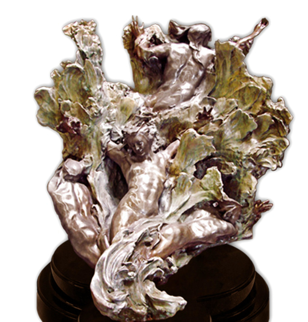 Sea Creates Bronze Sculpture 2000 56 in Sculpture by M. L. Snowden
