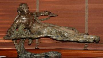 Alluvia Bronze Sculpture 2004 35 in Sculpture by M. L. Snowden