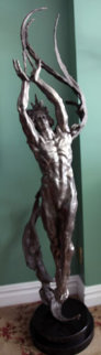 Angstrom Life Size Bronze Sculpture 2007 69 in Sculpture - M. L. Snowden