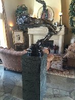 Spiral Helix Y Bronze Sculpture 50 in Sculpture by M. L. Snowden - 1