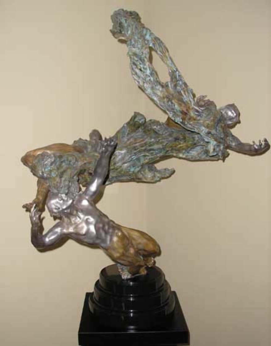 Spiral Helix Y Bronze Sculpture 50 in Sculpture by M. L. Snowden
