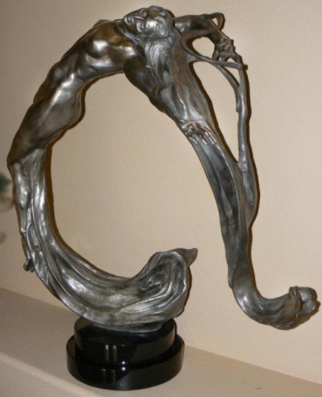 Lightwave Bronze Sculpture 2008 37 in Sculpture by M. L. Snowden