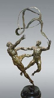 Stasis Bronze Sculpture 51 in Sculpture by M. L. Snowden