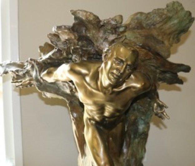 Tectonics Europe Bronze Sculpture 2003 35 in Sculpture by M. L. Snowden