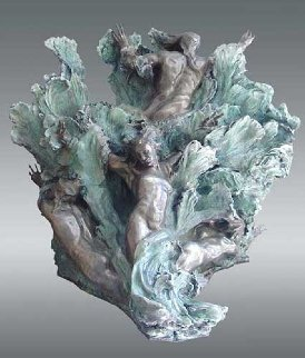 Sea Creates Bronze Sculpture 55x48 Sculpture - M. L. Snowden