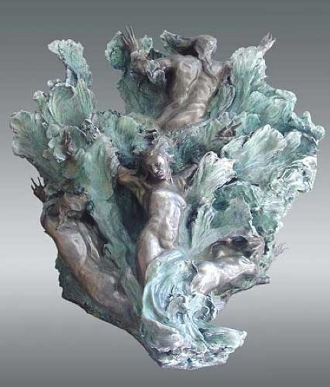 Sea Creates Bronze Sculpture 55 in  Sculpture by M. L. Snowden