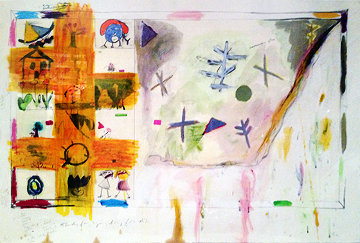 Study For Symphony For A.D. #2 24x37 Original Painting - Joan Snyder