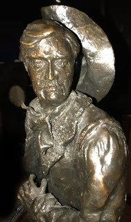 Gunfighter Bronze Sculpture 1979 22 in Sculpture by John Soderberg
